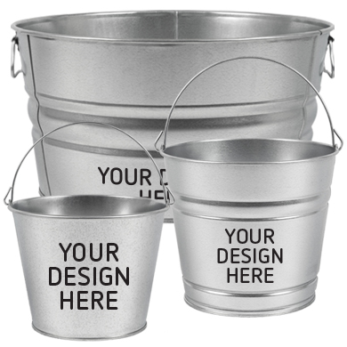 custom decorated metal buckets image