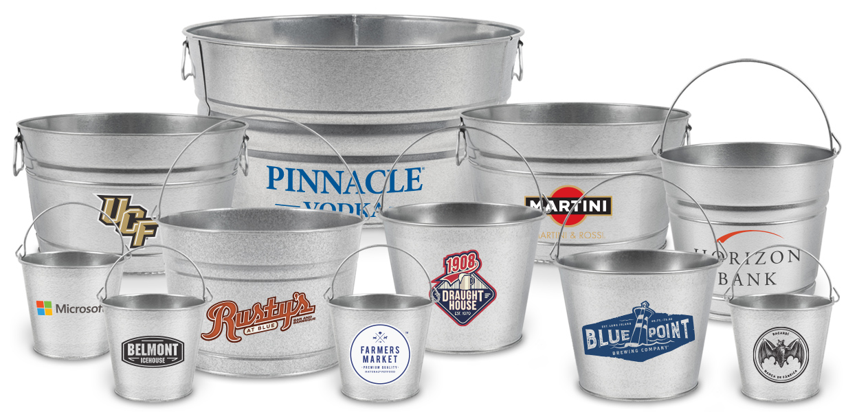 custom printed personalized metal buckets made in usa